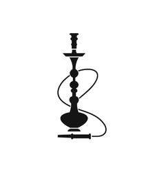 Hookah icon black simple style vector image
