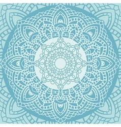 Indian lace ornament vector image