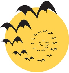 Moon bats vector image vector image