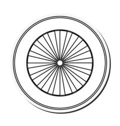 single wheel icon vector image