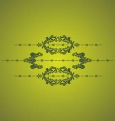 green vintage vector image