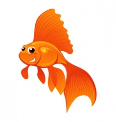 happy goldfish vector image vector image
