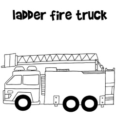Ladder fire truck vector image