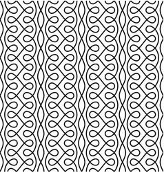 monocrome seamless linear flourish pattern for vector image vector image