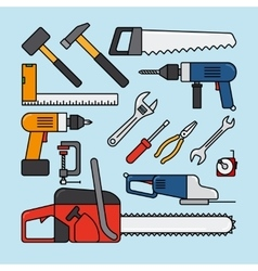 Working tools icons vector image