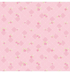 Cute seamless background with flowers vector image