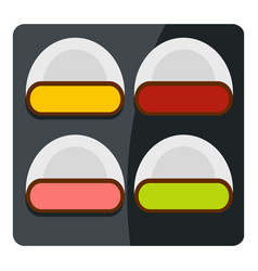 different sushi icon isolated vector image vector image