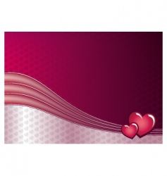 love and hearts background vector image