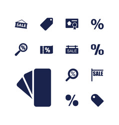 13 discount icons vector image