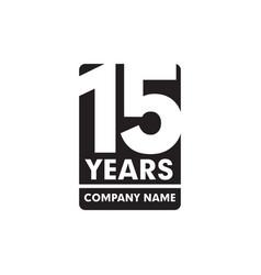 15th year anniversary emblem logo design vector