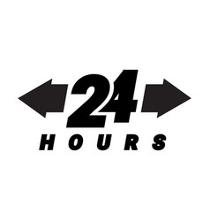 24 hours order execution or delivery service icons vector image