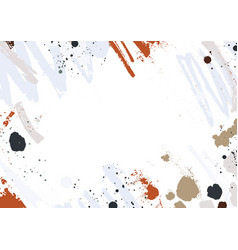 Abstract horizontal backdrop with colorful paint vector