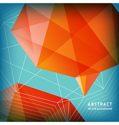 Abstract Low Polygonal Brain Shape Background vector image