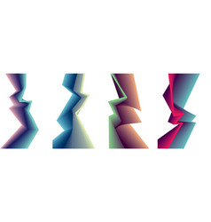 abstract shape backgrounds set sharp cornered vector image