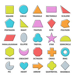 Basic shapes set vector