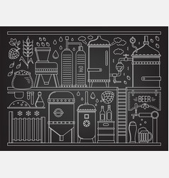 beer production stage vector image