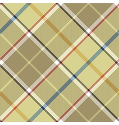 Beige plaid diagonal fabric texture seamless vector