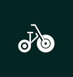Bicycle equipment sport creative modern logo vector