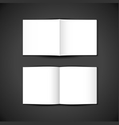Blank booklet template mockup vector