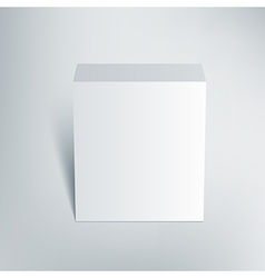 Blank isolated box mockup with shadow 2 vector