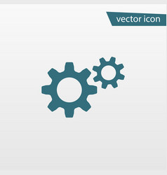 blue gear icon isolated on background modern flat vector image