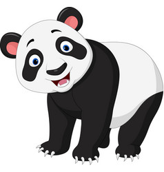cartoon happy panda vector image