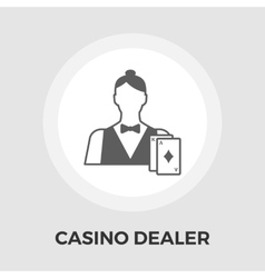 Casino Dealer Flat Icon vector