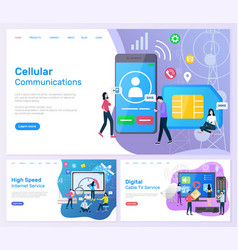 Cellular communication high speed internet service vector