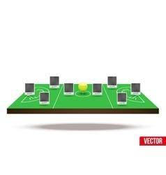 Concept participants playing lacrosse vector