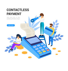 contactless mobile payments concept pos terminal vector image
