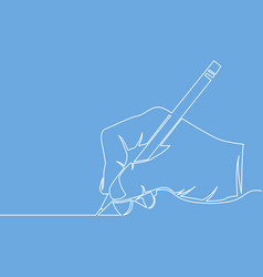 Continuous one line hand drawing a line vector
