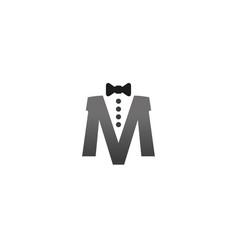 Creative necktie m letter logo design symbol vector