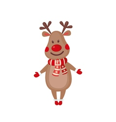 Cute Reindeer icon in flat style vector