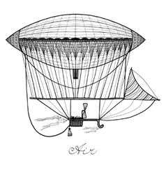 Doodle Airship vector image