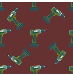electric screwdriver seamless pattern vector image