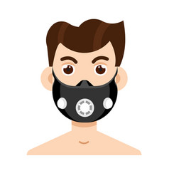 Elevation training mask in flat style vector