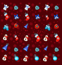 festive texture with attributes new year vector image
