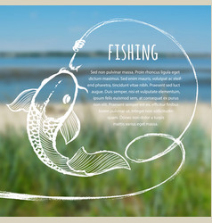 fishing blurred photo background vector image