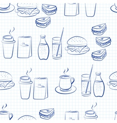 Food and beverages linear design vector image