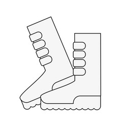 Gardener boots isolated vector