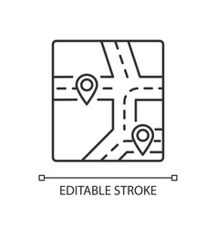 Gps map pixel perfect linear icon vector
