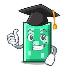 Graduation rectangle character cartoon style vector