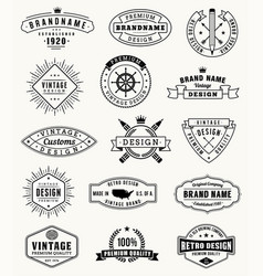 Grunge vintage logos and insignas vector
