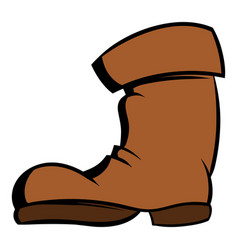 high boots icon cartoon vector image