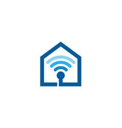 Home wifi logo icon design vector