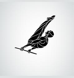horizontal bar male gymnast in artistic gymnastics vector image