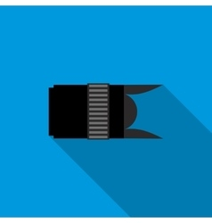 Interchangeable lens digital camera icon vector image