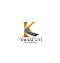 K letter road construction creative logo vector