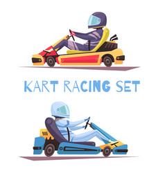 Karting design concept vector