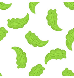 lettuce leaves seamless pattern organic vector image